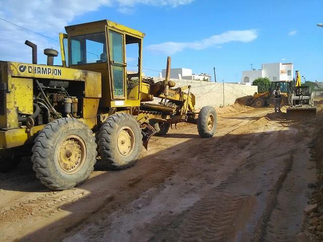 تقدم أشغال تعبيد مدخل جامع الرحيم
